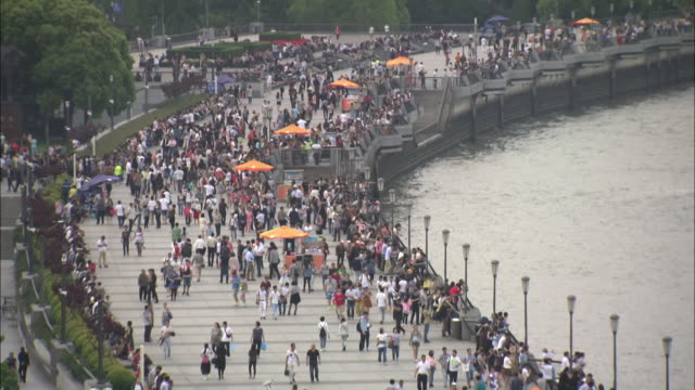 wide shots of the bund in shanghai - the bund stock videos & royalty-free footage