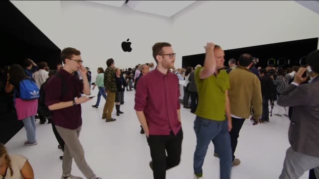 Wide shots of the interiors of the Apple Store during the New Product Launch on September 9th 2014 in New York City