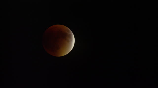 wide time lapse shot of lunar eclipse / lake powell, utah, united states - lake powell stock videos & royalty-free footage