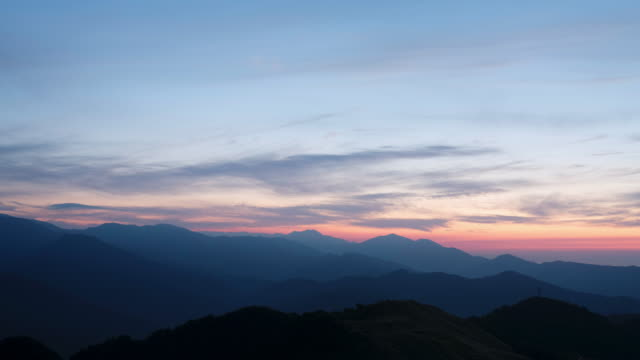 wide time lapsed shot of of the sunset from the top of a mountain - iya valley stock videos & royalty-free footage