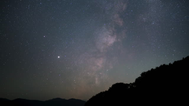 wide time lapsed shot of the milky way disappearing below the horizon - iya valley stock videos & royalty-free footage
