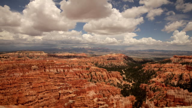 wide timelapse clouds over bryce canyon, utah - arid stock videos & royalty-free footage