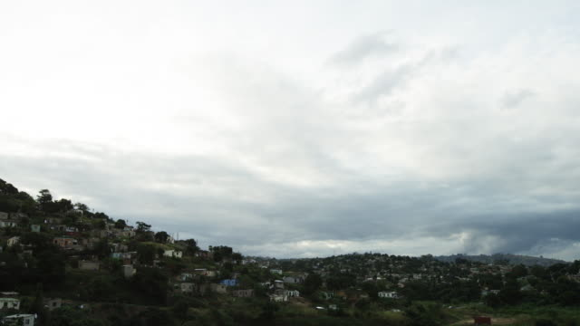 Wide timelapse, scenic South African village