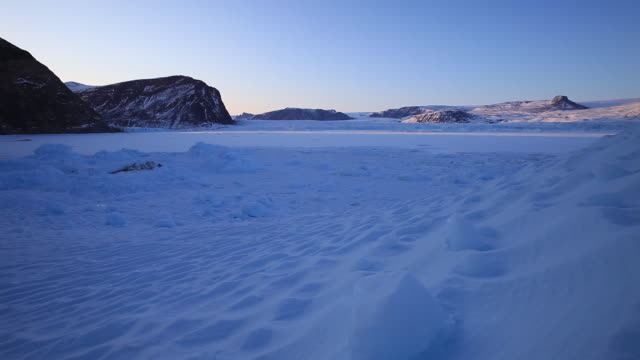 wide, vast mountains over greenland tundra - wide stock videos & royalty-free footage