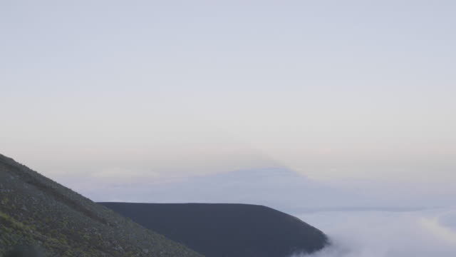 wide, view form mt. fuji above clouds - satoyama scenery stock videos and b-roll footage