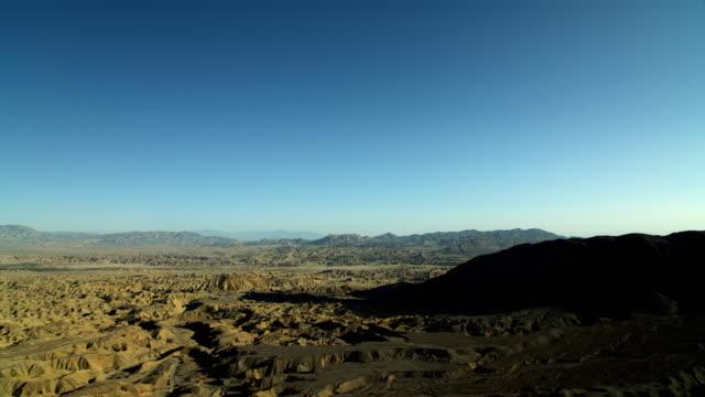 wide view of badlands in anza-borrego park - 北半球点の映像素材/bロール
