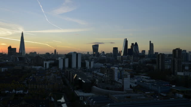 Wide view of city of London Locked off,Time lapse
