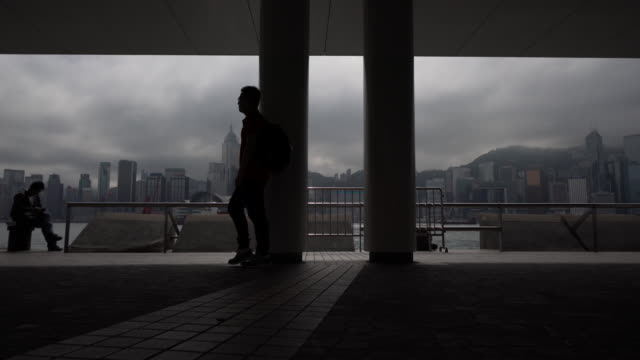 wide, view of hong kong skyline - central district hong kong stock videos and b-roll footage