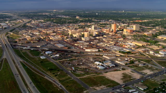 wide view of lubbock, texas. shot in 2007. - artbeats stock videos & royalty-free footage