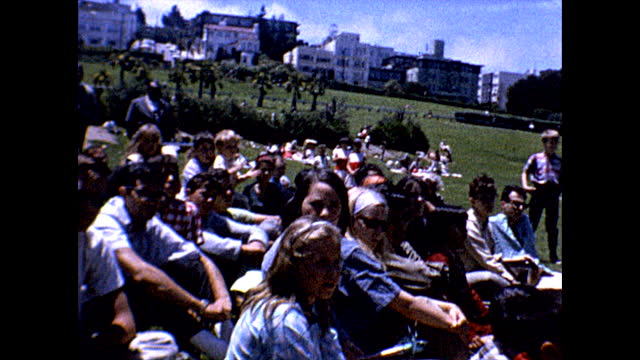 wide view of mime troupe dressed in renaissance clothes dancing around before the show at san francisco's mission dolores park in the mission... - mime stock videos & royalty-free footage