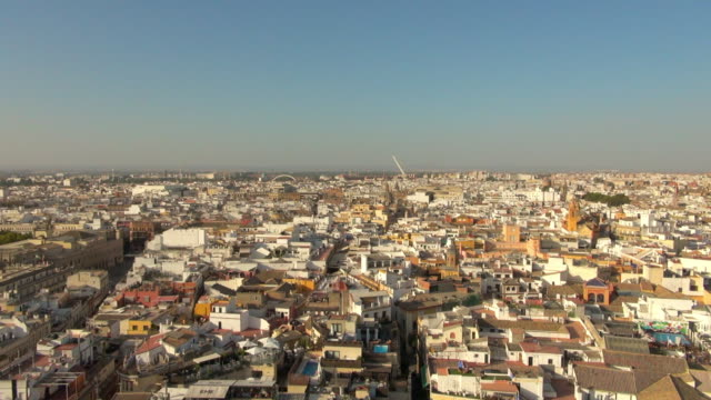 Wide: View of Seville Spain City from High Above