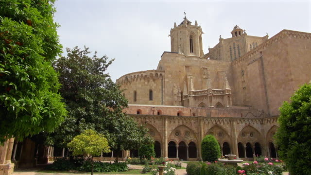 Wide View of the Cathedral Courtyard of Tarragona