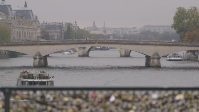 Wide view of the Pont Neuf from the Pont des Arts, 2013, Paris, France.