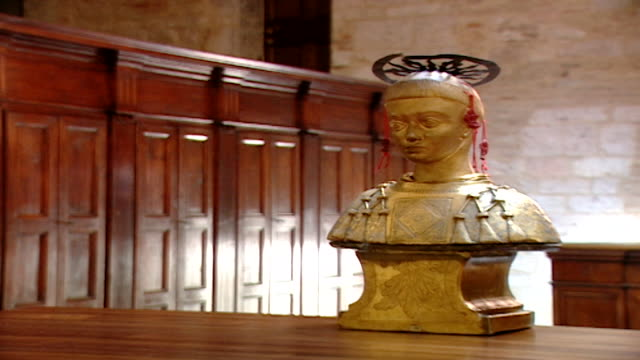 wide view of the reliquary of saint maron in saint feliciano cathedral. during the crusades the relics of saint maron, founder of the maronite order,... - the crusades stock videos & royalty-free footage