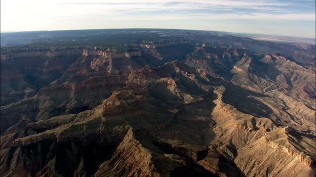 Large panorama du côté sud du Grand Canyon - vue aérienne - Arizona, comté de Coconino, États-Unis d'Amérique