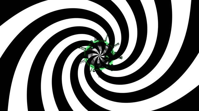 vídeos de stock, filmes e b-roll de pânico generalizado, manipulação mental, conceito de pensamento ruim. vírus do pensamento. 4k. ultra alta definição. animação 3840x2160.3d. - ilusão