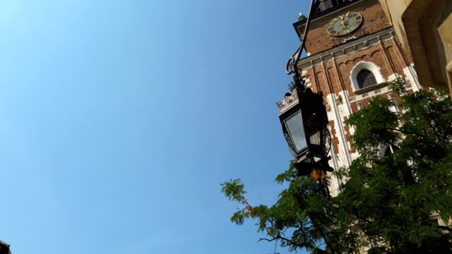 wieża ratuszowa, town hall tower of krakow, poland - eastern european culture stock videos & royalty-free footage