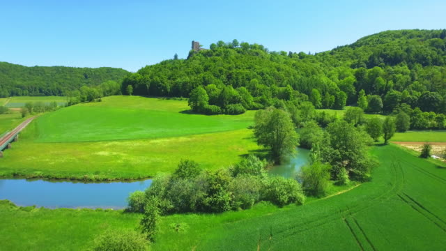 Wiesent River Valley And Neideck Castle In Franconian Switzerland In North Bavaria
