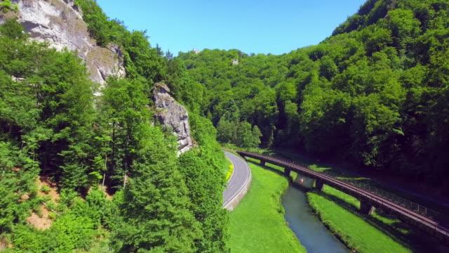 Wiesent River Valley In Franconian Switzerland In North Bavaria