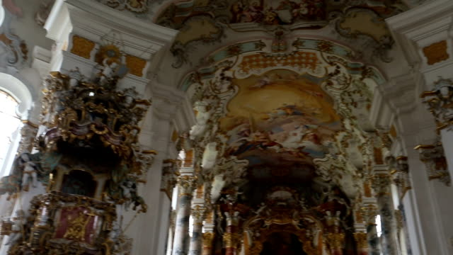 wieskirche church in germany - baroque stock videos & royalty-free footage