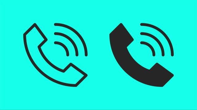 wifi-calling - vektor animieren - icon stock-videos und b-roll-filmmaterial