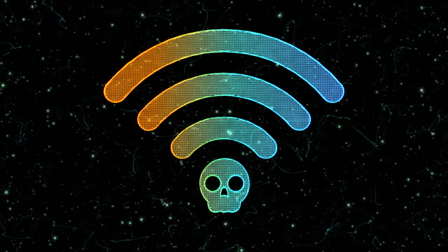 wi-fi krack symbol - conspiracy stock videos & royalty-free footage