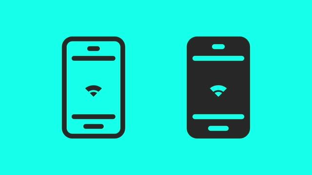 vídeos y material grabado en eventos de stock de wi-fi en el móvil - vector animado - vector