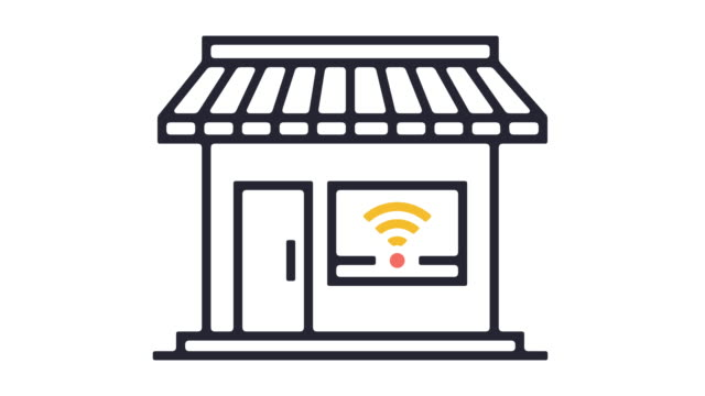 Wi-Fi Spot Line Icon Animation