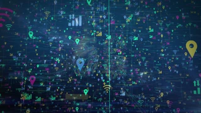vidéos et rushes de 5g wifi technologie concept numérique - lettre de l'alphabet