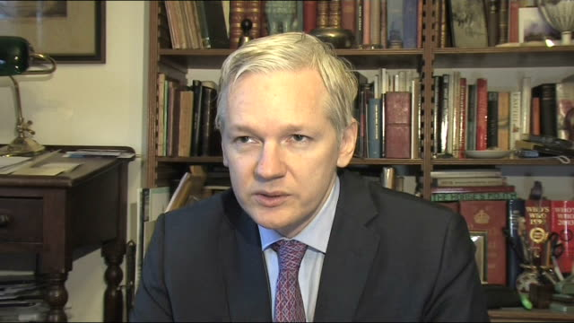 interview with wikileaks founder julian assange interview sot us are trying to set an example / one of these charges carries with it the death... - old prisoner stock videos & royalty-free footage