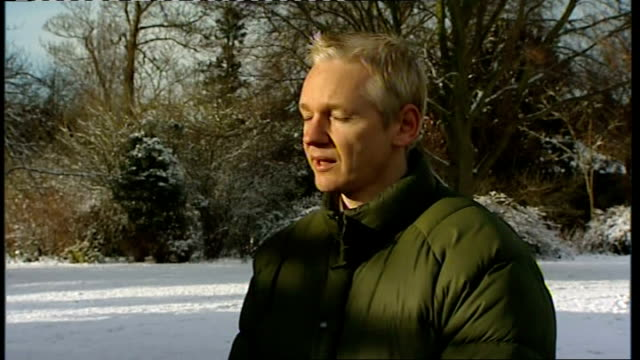 Julian Assange Ellingham Hall interviews Julian Assange speaking as conducting 2WAY interview in grounds of Ellingham Hall SOT There is something...