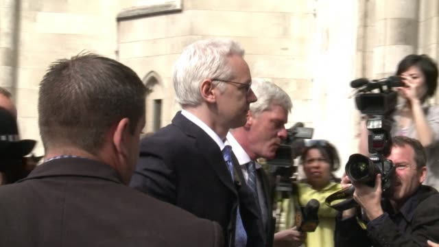 wikileaks founder julian assange began his appeal tuesday against extradition to sweden to face rape allegations, with his lawyer telling a british... - greater london stock videos & royalty-free footage