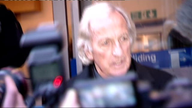 wikileaks founder julian assange jailed: john pilger and ken loach leave courthouse; england: london: city of westminster magistrates court: ext * *... - john pilger stock videos & royalty-free footage