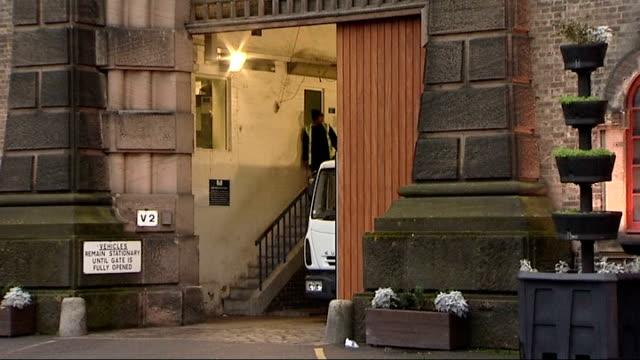 stockvideo's en b-roll-footage met wikileaks founder julian assange released from prison on bail england london wandsworth prison ext wandsworth prison / union jack / hmp wandsworth... - wandsworth