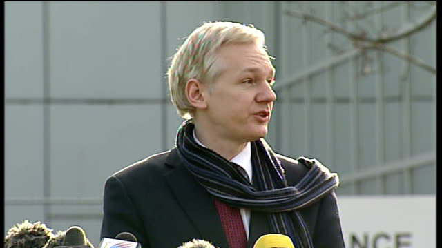 wikileaks founder to be extradited to sweden: julian assange statement; julian assange statement continued sot - three people are day are being... - police statement stock videos & royalty-free footage