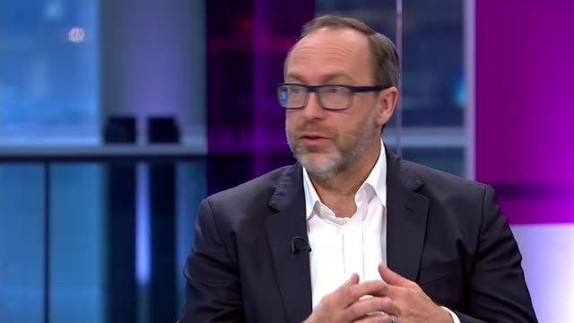 wikipedia to set up news service 'wikitribune' wikipedia to set up news service 'wikitribune' england london gir int jimmy wales studio interview sot... - artificial stock videos & royalty-free footage