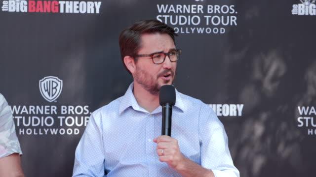wil wheaton at warner bros. studio tour hollywood – the big bang theory in los angeles, ca 6/27/19 - warner bros. stock videos & royalty-free footage
