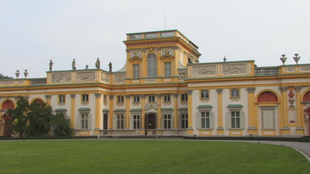 zi, ms, wilanow palace, warsaw, poland - eastern european culture stock videos and b-roll footage