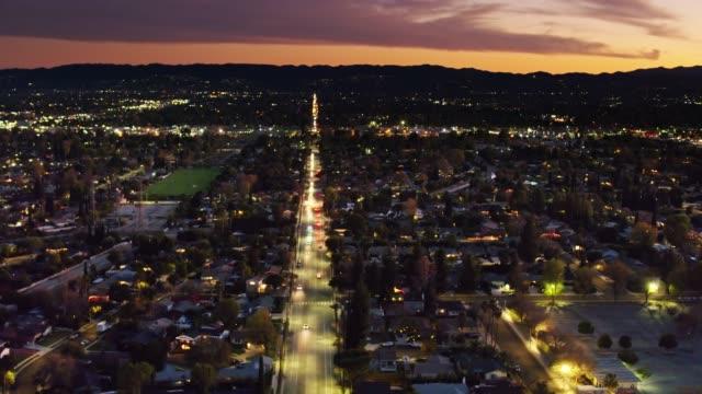 Wilbur Avenue in Northridge, Los Angeles, CA - Aerial Establisher