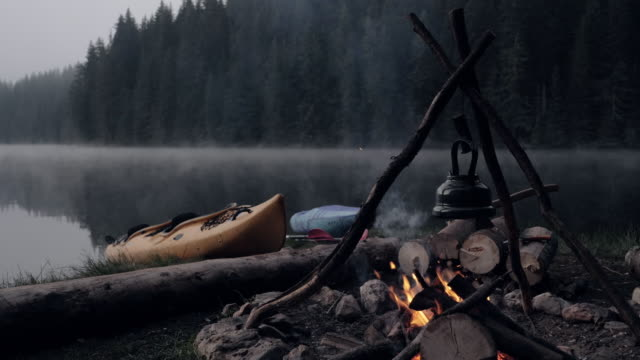 wild camping in nature. - wilderness stock videos & royalty-free footage