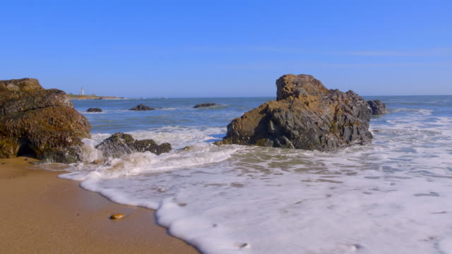 wild coast of pacific ocean. california, usa - image manipulation stock videos and b-roll footage