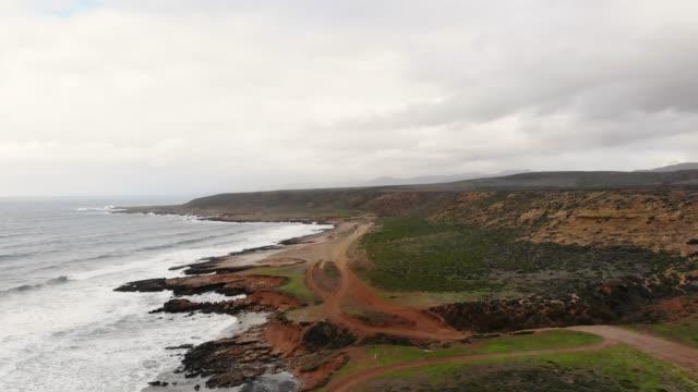 wild coastline - penisola di bassa california video stock e b–roll