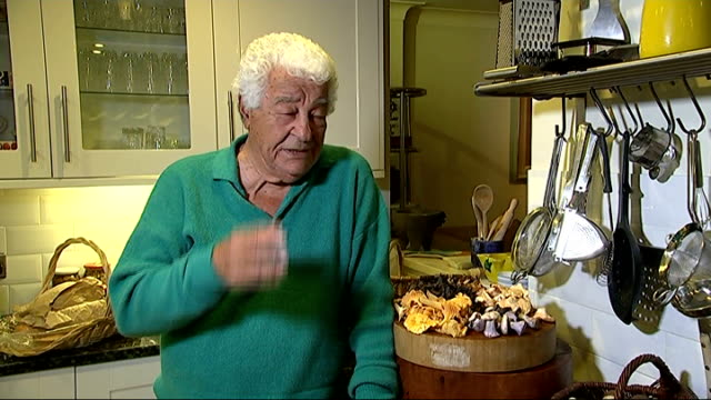 risks of poisoning location unknown int antonio carluccio interview sot somerset ext wild mushroom growing on tree close shots of wild mushrooms - foraging stock videos and b-roll footage