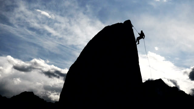 wild rappell - abseiling stock videos & royalty-free footage