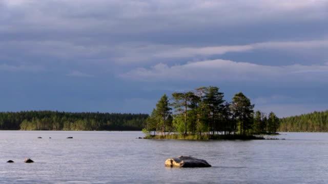 Wilderness lake in Scandinavia