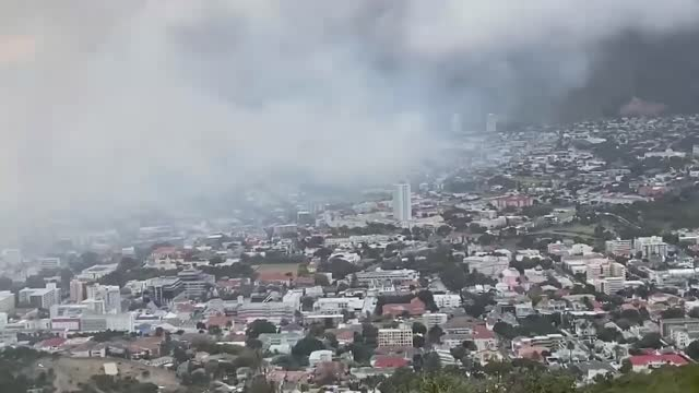 wildfire on the slopes of south africa's table mountain spread to the nearby university of cape town campus on april 19, forcing the evacuation of... - injured stock videos & royalty-free footage