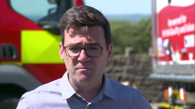 andy burnham vists winter hill england greater manchester near bolton winter hill ext andy burnham press conference sot - bolton greater manchester stock videos and b-roll footage