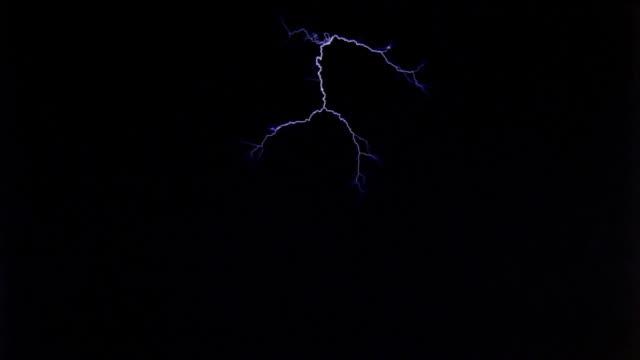 wildly forking arcs from electrode near top of frame - テスラコイル点の映像素材/bロール