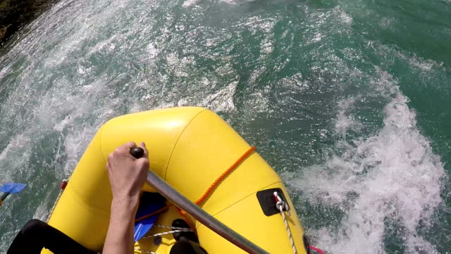wildwater adventures - inflatable raft stock videos and b-roll footage