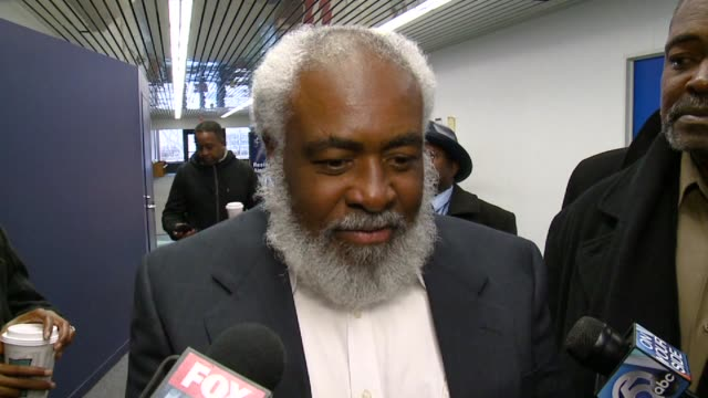 wiley bridgeman talks to the press about his exoneration at a cleveland courthouse on nov 21 2014 - prisoner released stock videos & royalty-free footage